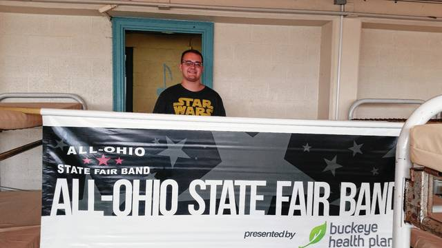 Gage Newland, a senior high school trombone player from Mechanicsburg, was selected to represent Champaign County in the All-Ohio State Fair Band. 200 school musicians are chosen throughout Ohio to attend an intense music camp prior, and then perform several times a day during the State Fair, which is held July 26-August 6.