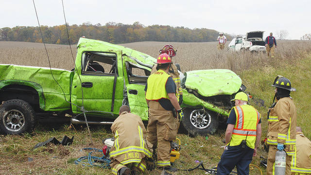 Pictured is the scene of Sunday's fatal crash on state Route 56.